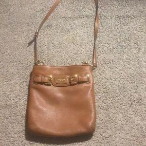 Brown michael kors shoulder purse